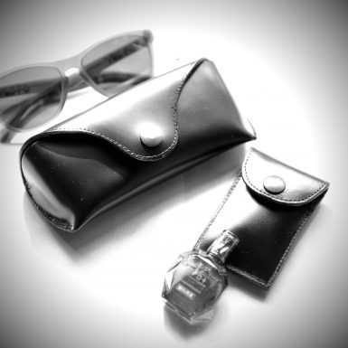 glasses case and eye drops case cordovan abtokyo
